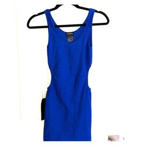 Royal Blue bodycon dress with keyhole sides